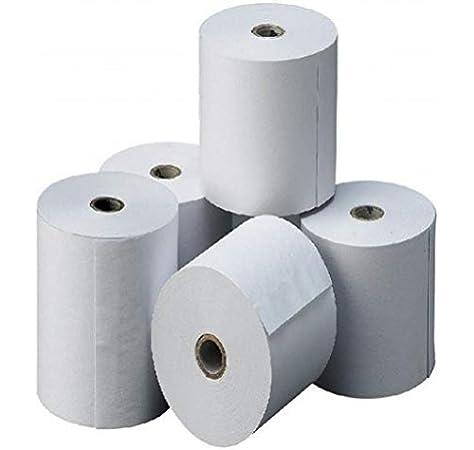 8 rollos de papel termico 80x80x12 para tpv, registradora ...
