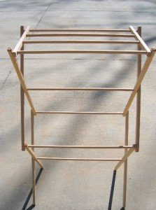Wood 36 Inch Clothes Drying Rack Foldable Portable Laundry D