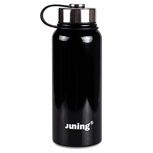 Stainless Steel Water Bottle Double Wall Vacuum Sealed 32 Oz by JUNING
