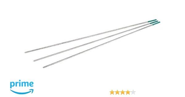 GYS 044586 - Electrodos de tungsteno para soldadura TIG (1,6 mm, 10 unidades): Amazon.es: Industria, empresas y ciencia