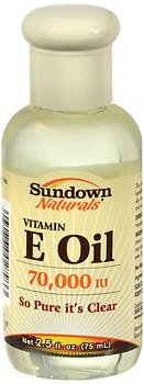 Sundown Naturals Vitamin E Oil 70,000 IU - 2.5 oz, Pack of 2