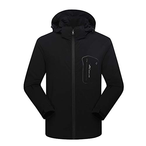 VEZAD Coat Men Winter Soft Shell Cashmere Waterproof Sport Outdoor Assault Jacket (Cashmere Jacket Track)