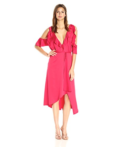 French Connection Women's Maudie Drape Dress, Watermelon, 2 by French Connection