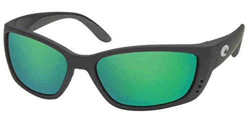 Mirror Wave 580 Glass (Costa Del Mar Sunglasses - Fisch- Glass / Frame: Black Lens: Polarized Green Mirror Wave 580 Glass)