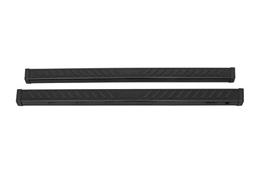 Lund 28565025 Summit Ridge 2.0 Black Stainless Steel Running Boards for 2015-2018 Chevrolet Colorado & GMC Canyon Extended Cab