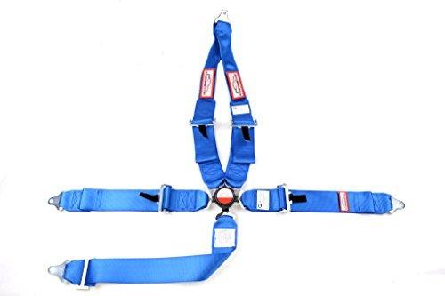 - Racerdirect.net SFI 16.1 CAM Lock SEAT Belt Blue HANS Race Harness 5 Point V ROLL BAR Mount