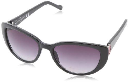 Jessica Simpson Women's J5074 OX Cat Eye Sunglasses,Black,55 - 2014 Eye Sunglasses Cat