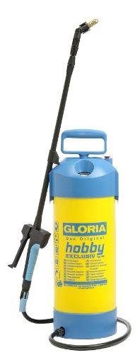 Gloria Drucksprüher Drucksprühgerät 5Liter mit Teleskop-Verlängerungsrohr, schwarz