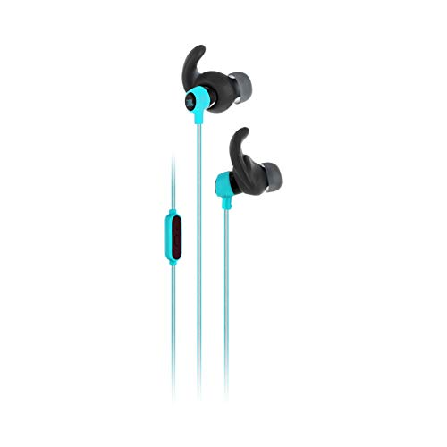 JBL Reflect Mini In-Ear Headphones 3.5mm Stereo Wired Sweatproof Earbud with 1 Button Remote and Mic, Teal