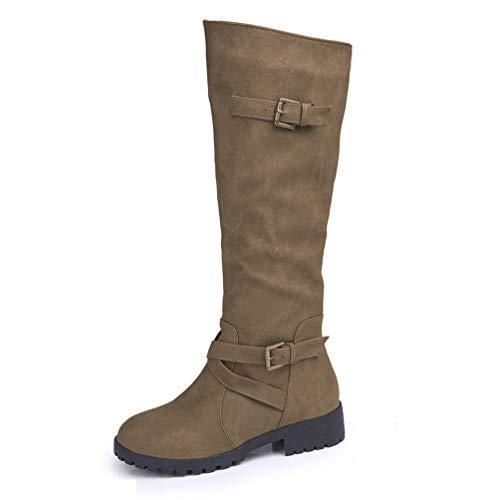 Winter Frauen Und Herbst Große Und Amerikanischen Hohe Europäischen Größe Stiefel Khaki LIANGXIE Stiefel Stiefel Martin 2018 awH7qUU