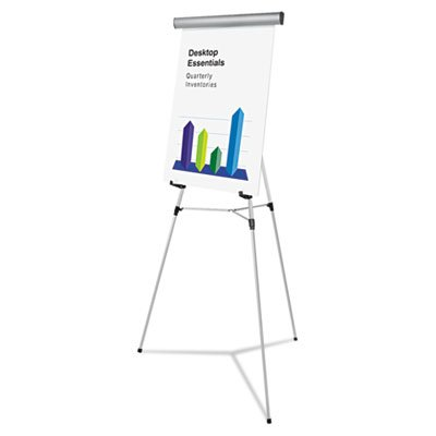 Heavy Duty Presentation Easel, 69'''' Maximum Height, Metal, Silver, Sold as 1 Each