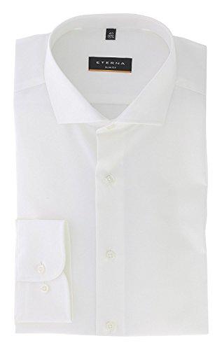 Eterna Long Sleeve Shirt Slim Fit Chambray Uni