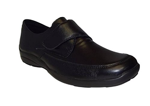 Db Shoes Women Strap On Wide Fit Shoes Black EE-EEEE Fitting.