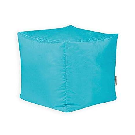 Polyester 38cm x 38cm Water Resistant Outdoor Garden Bean Bags and Indoor BeanBag Stool Large Bean Bag Bazaar Cube-2 Pack