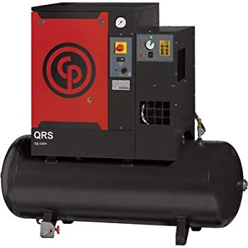 Chicago Pneumatic Quiet Rotary Screw Air Compressor with Dryer - 7.5 HP, 230 Volts, 1 Phase, Model# QRS7.5HPD-1