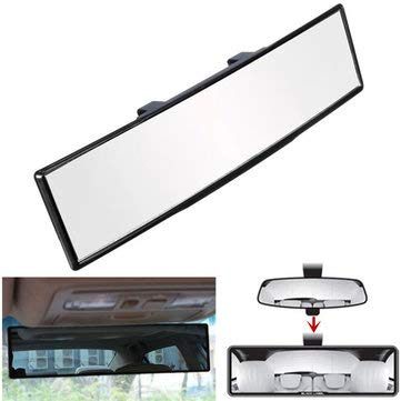 View Truck Auto Part - Interior Parts Car Mirror - 270mm Wide Curve Interior Clip On Rear View Universal Auto Car Truck - 1 x Car Interior Rearview Anti-glare Mirror