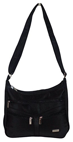e52da54f65dad ... New Bags Shopper Handtasche schwarz Tasche Damentasche Umhängetasche  Spinnstoff