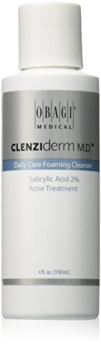 Obegi Clenziderm M.D. Daily Care Foaming Cleanser, White, 4 Fluid Ounce