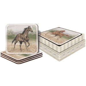 - Store With Style Wild Horses Boxed Coasters