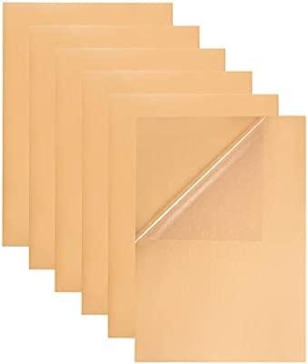 BENECREAT 30 PCS Etiqueta Adhesiva Pet Transparente en Blanco A4, Apto para Impresora de Láser, Etiqueta de Comida y Deciración 29.6x21cm