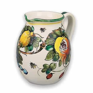 Hand Painted Toscana Bees Pitcher From Italy