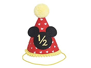 Half Birthday Mickey Party Hat