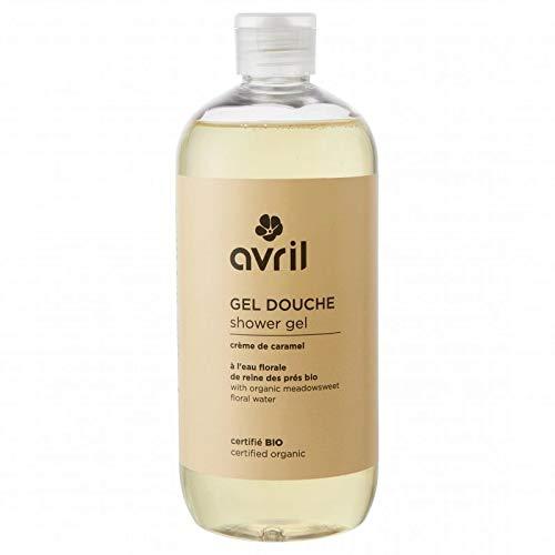 AVRIL - Gel douche Crème de Caramel - Pour tous les types de peau - Parfum Vanille - Effet Tonique - Certifié Ecocert - Vegan - Cruelty Free - 500 ml Yumi Bio Shop