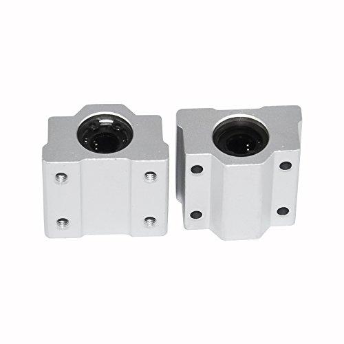 2-Pack SCS16UU Inner Diameter 16mm CNC Linear Motion Ball Slide Bearings