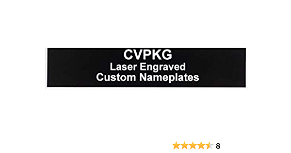 Custom Laser Engraved Pelican 1560 Nameplate 3 Text Lines, Orange