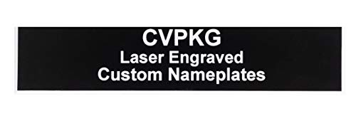 Custom Laser Engraved Pelican 1560 Nameplate (3 Text Lines, Black)