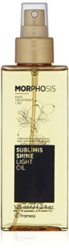 Framesi Morphosis Sublimis Shinelight - Oil 4.2 Ounce, Color Safe, Weightless Argan Oil for Hair, Protective Argan Oil for Dry Hair, Hair Treatment, Vegan, Gluten Free, Cruelty Free