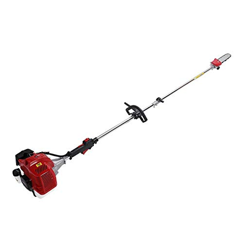 ees.Petrol Brush Cutter Trimmer Garden Hedge Chainsaw Pole Saw Multi Purpose / 43CC