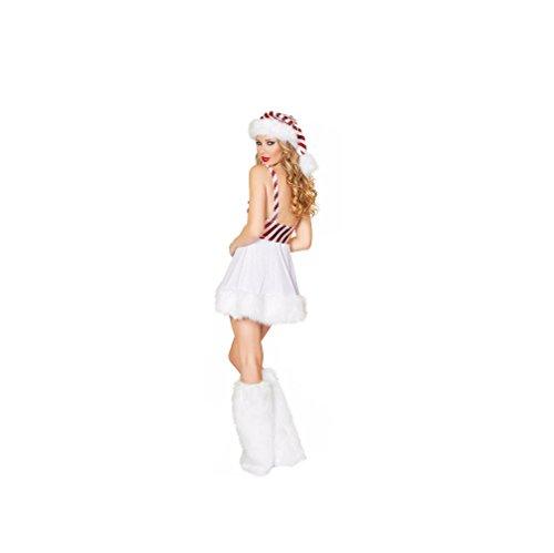 weiß A Damen weiß Linie GGTBOUTIQUE Kleid IUwWS