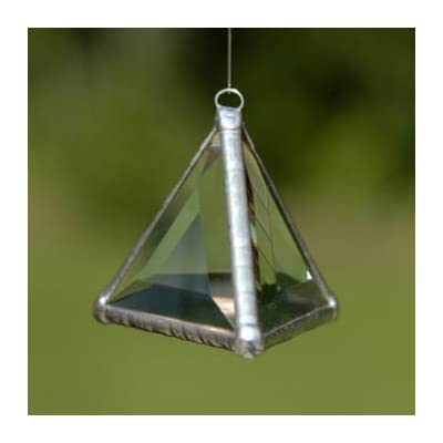 Rainbow Water Prism - Pyramid Rainbow Maker - Clear Stained Glass Suncatcher : Home And Garden Products : Garden & Outdoor