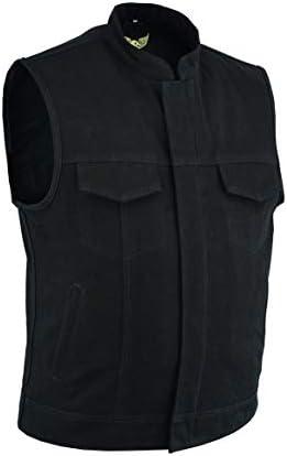 color negro con brazos ocultos Leatherick Chaleco para hombre