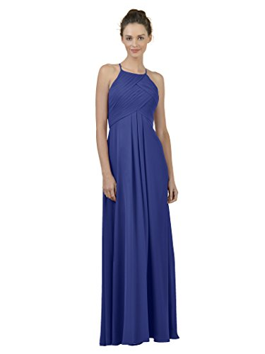 Alicepub Plus Royal Line Maxi Long Dress Chiffon Dress A Gown Party Blue Evening Bridesmaid ArFAqwan