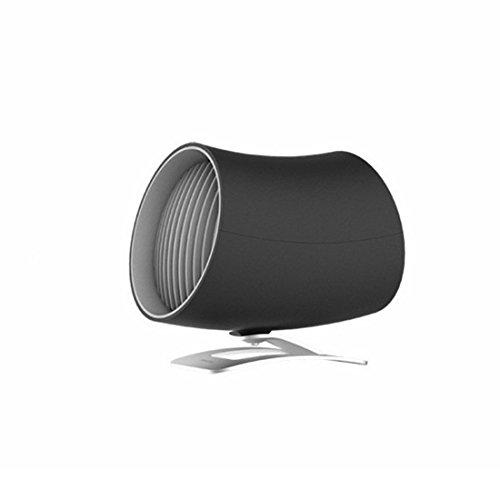 Gelaiken Desktop Fan Home Fan USB Double Wing Mini Fan Office Desktop Mute Adjustable 2 File Small Fan Table Desk Fan for Home and Travel (Color : Black) ()