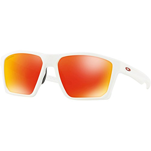 Oakley Men's Targetline Sunglasses,OS,Matte White/Prizm - Red Oakley And Sunglasses White