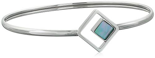 Skagen Women's Agnethe Silver-Tone Mother-of-Pearl Square Bracelet, Silver/White/Blue, Size: - Bracelet Silver Skagen
