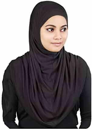 a493bfc3f MyBatua Women's 2-Piece Al-Amira Hijab with Under Scarf/Cap/Bonnet