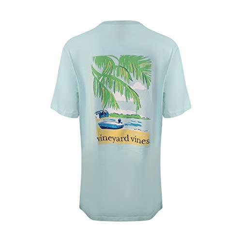 Vineyard Vines Men's Short Sleeve Graphic Pocket T-Shirt (Beach Crystal Blue, Medium)