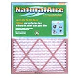 20' x 20' x 1', Merv 8 Naturalaire Standard Pleated Media Home Furnace Air Filter, Box of 12 Filters
