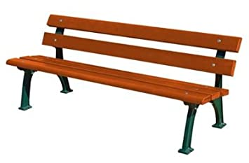 Gartenbank holz metall  mit Gussgestell - Sitz- und Rückenfläche Fichtenholz - gerade ...