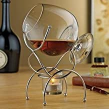 Wine Enthusiast 4-Piece Brandy Warmer Gift Set by Wine Enthusiast