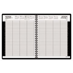 Eight-Person Group Practice Daily Appointment Book, 8 1/2 x 11, Black, 2016, Sold as 1 Set