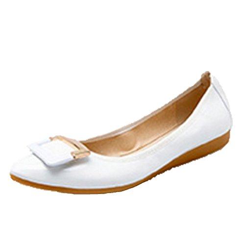 Mariage Fête Ballerines Chaussure Bride Blanc Femme D'honneur À Demoiselle Cérémonie Opsun n6TzaYx
