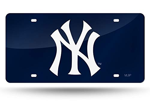 (Rico Industries - New York Yankees Laser Cut Blue License Plate)