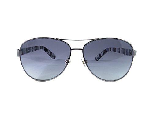 Kate Spade Sunglasses DALIA 079D Silver Black Frame And Gray Polarized - Polarized Sunglasses Kate Spade Aviator
