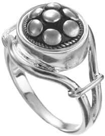 Kameleon Silver Ring Open Side Size 6 * Jewelpop Authentic Silver New KR8size 6