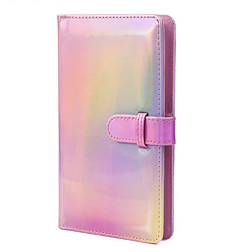 Epicgadget 96 Pocket Mini Film PU Leather Photo Album for Fujifilm Instax Mini 9 8 90 8+ 26 7s Instant Camera Film Polaroid Snap Zip Z2300 PIC-300 Film (Holographic Pink)